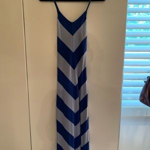 Blue Striped GAP Maxi Dress